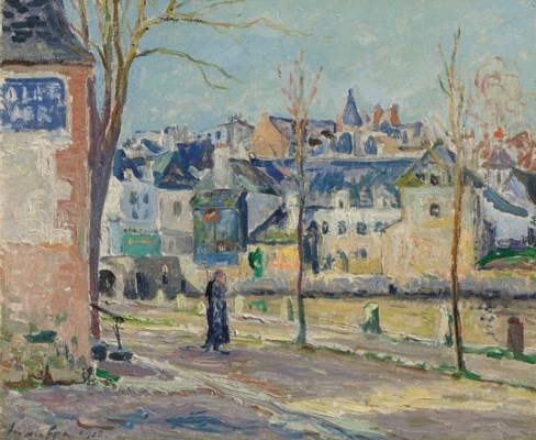 Artwork by Maxime Maufra, Le coin du port à Auray, Made of oil on canvas