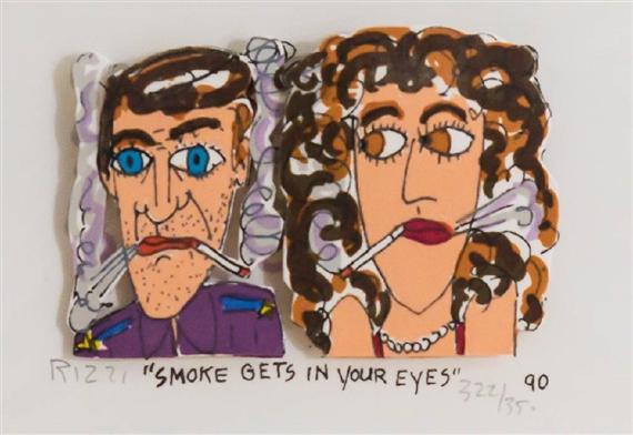Rizzi James | Smoke Get In Your Eyes (1990) | MutualArt