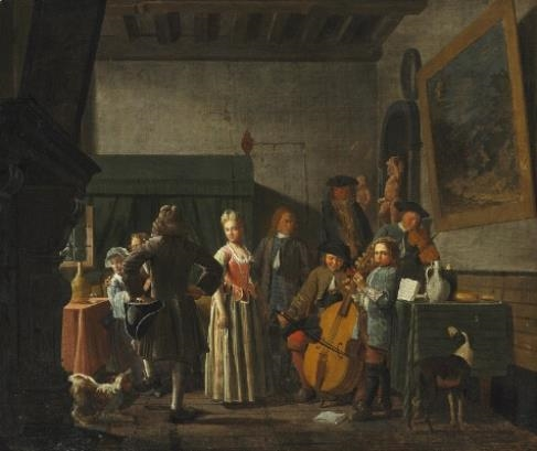Jan josef horemans the elder fishmongers selling fish to for Horemans interieur