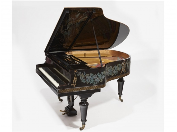 Artwork By Jean Dunand, Piano Quart De Queue, Made Of Entirely Lacquered  Brown Nuanced