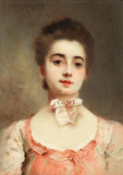 Gustave Jean Jacquet | Portrait of a young lady | MutualArt