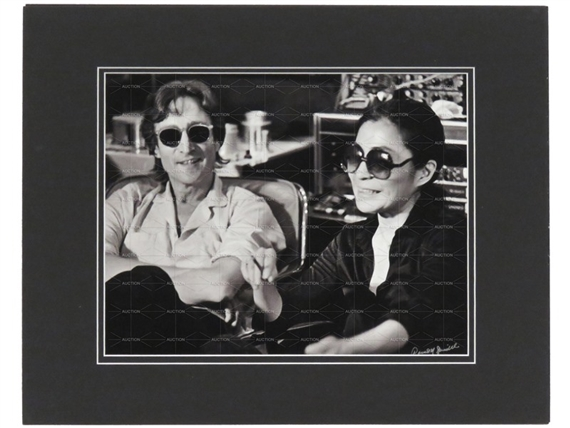 Spindel David John Lennon Yoko Ono Whilst Recording Double Fantasy Album 3 Weeks Prior To His Death 1980 Mutualart