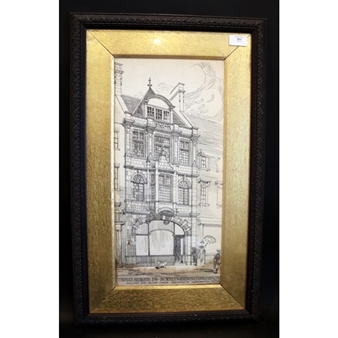 William Curtis Green | Original Pen & Ink Drawing Of A Shop