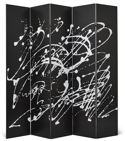 Artwork by dino gavina kazuhide takahama jackson pollock screen made of lacquered wood