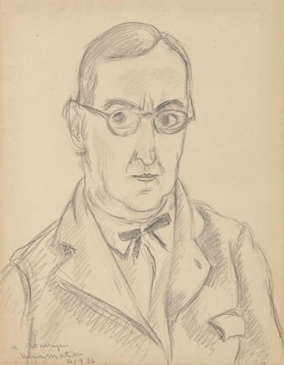 Artwork by Henri Matisse, Portrait d'André Rouveyre, Made of pencil on laid paper