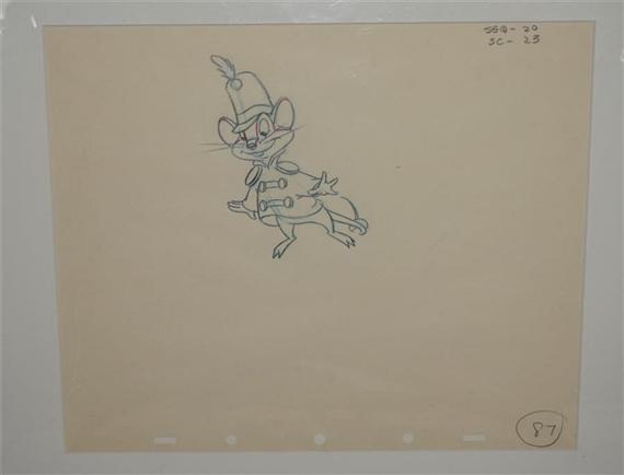 Disney Walt   An original production drawing of Timothy