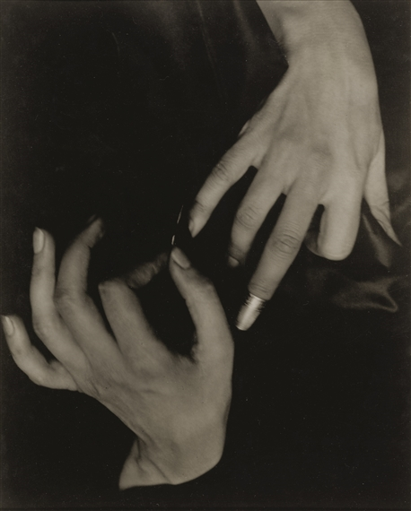 Artwork by Alfred Stieglitz, GEORGIA O'KEEFFE - HANDS AND THIMBLE, Made of flush-mounted photograph