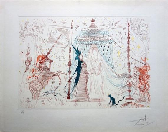 Dalí Salvador | Gala mon seul désir (la dame à la licorne) (1965