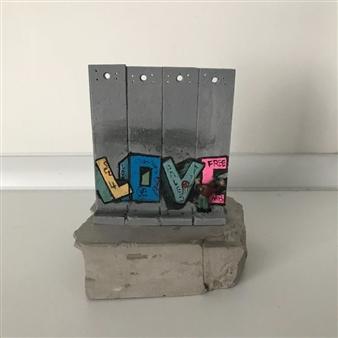 527b1bfec84431 Wall Section - Love. By Banksy · Catawiki · BFF Vinyl - Black Exclusive  Edition - Companion - KAWS