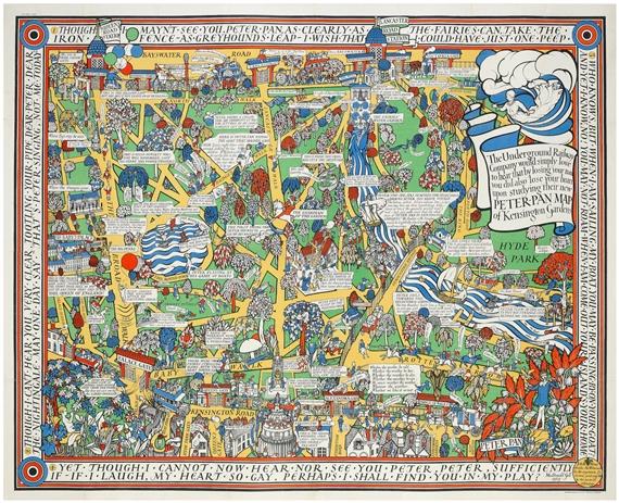 Gill Macdonald | PETER PAN MAP OF KENSINGTON GARDENS, LONDON ...