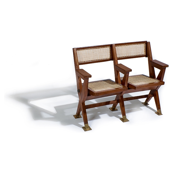 Tremendous Jeanneret Pierre Two Seat Theater Bench Mutualart Caraccident5 Cool Chair Designs And Ideas Caraccident5Info