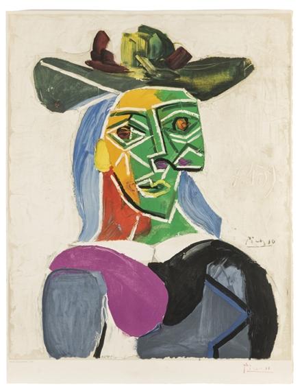 Picasso Pablo | Tete de Femme Au Chapeau - Head of Woman In Hat ...