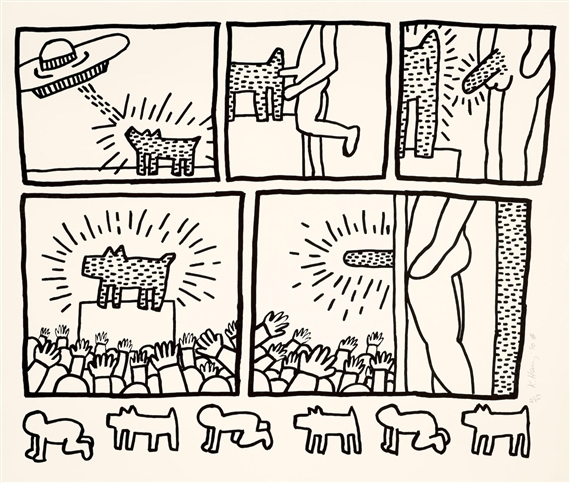 Haring keith untitled from the blueprint drawings l p 181 artwork by keith haring untitled from the blueprint drawings l p malvernweather Choice Image