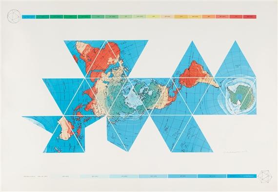 Fuller Buckminster Dymaxion Air Ocean World Map 1980 Mutualart