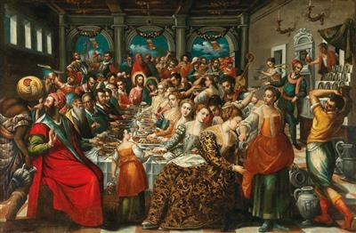 Wedding Feast At Cana.Venetian School 16thcentury The Wedding Feast At Cana Mutualart