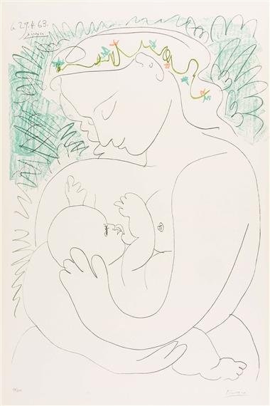 Picasso Pablo   Grand Maternite (1963)   MutualArt