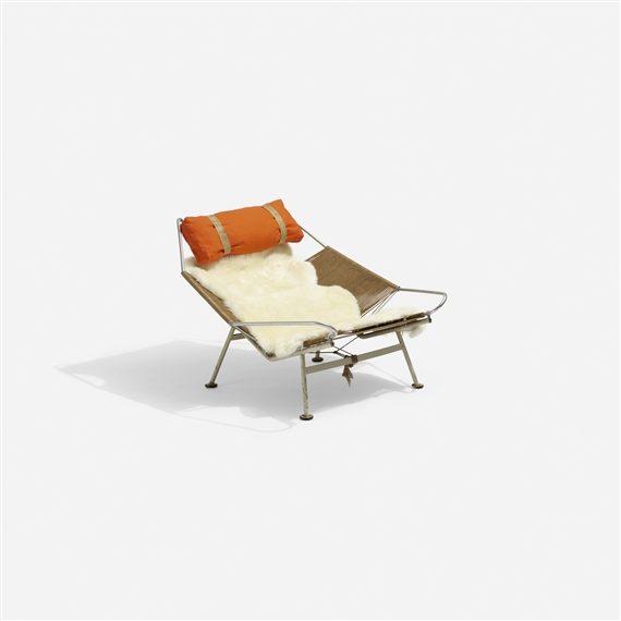 Artwork By Hans J. Wegner, Flag Halyard Lounge Chair, Made Of Enameled And