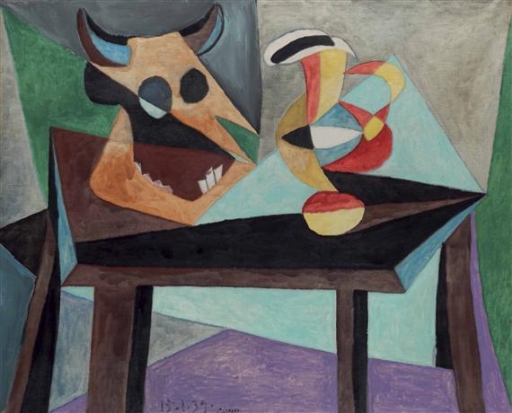 Picasso Pablo   Nature morte: Tête de taureau (1939)   MutualArt