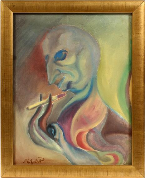 Heerup Henry Figure Smoking Mutualart