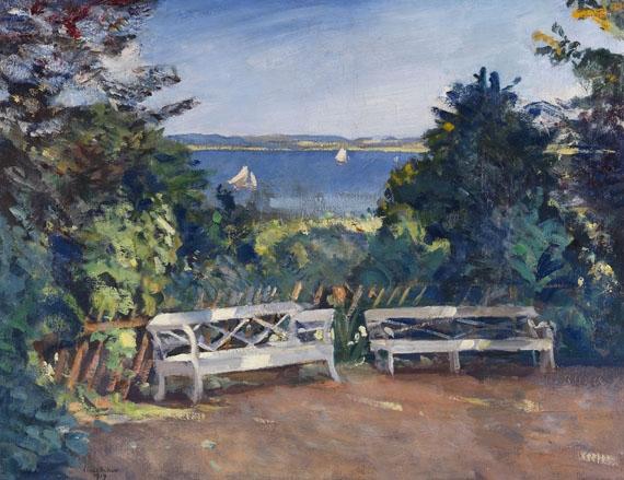 Schön Artwork By Ulrich Hübner, Garten In Travemünde, Made Of Oil On Canvas