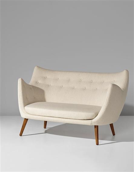 Artwork By Finn Juhl, Early Two Seater Sofa, Model No. FJ 41