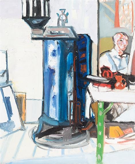 Gubler Max | Interieur mit Selbstbildnis im Spiegel (1949 - 1950 ...