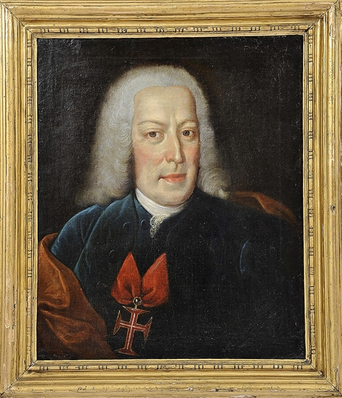 Artwork by Portuguese School, 18th Century, Portrait of D. Sebastião José de Carvalho e Melo (1699-1782), 1st marquis of Pombal, Made of oil on cavas