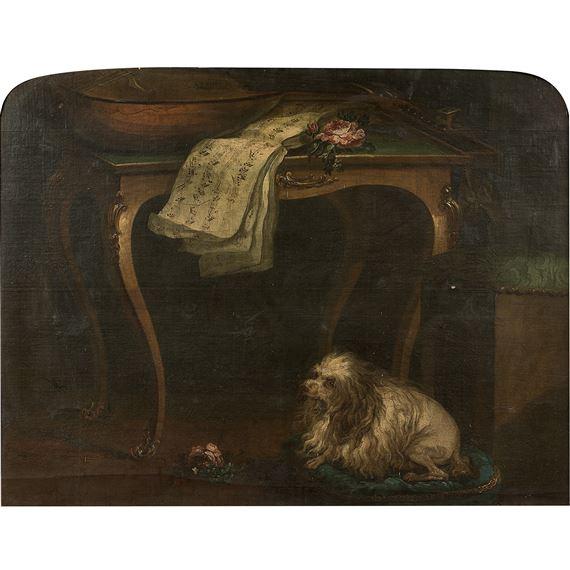 Nicolas Henry Jeaurat Debertry Nature Morte A La Table De Jeu En