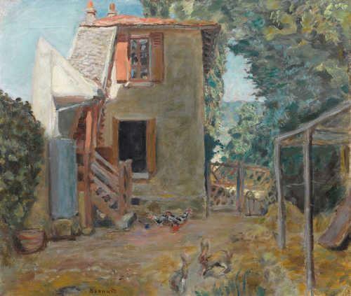 Artwork by Pierre Bonnard, Maison de la Mère du Peintre Roussel à L'Étang-La-Ville / La Maison de Campagne, Made of Oil on canvas