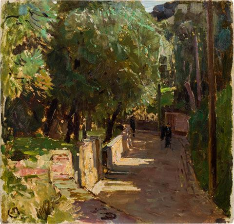 Artwork by Carl Moll, Beaulieu, Made of oil on panel