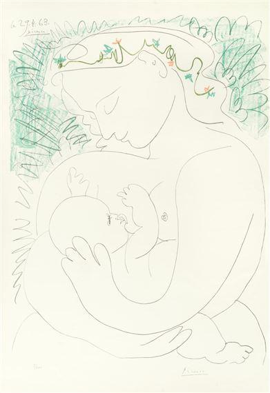 Picasso Pablo | Maternité (1963) | MutualArt