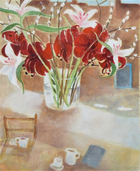 Newcomb Tessa | Still life with vase of flowers (2005) | MutualArt