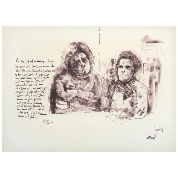 Artwork By Luis Cuevas Con Mi Maestra Lola Cueto De La Carpeta Recollections Of