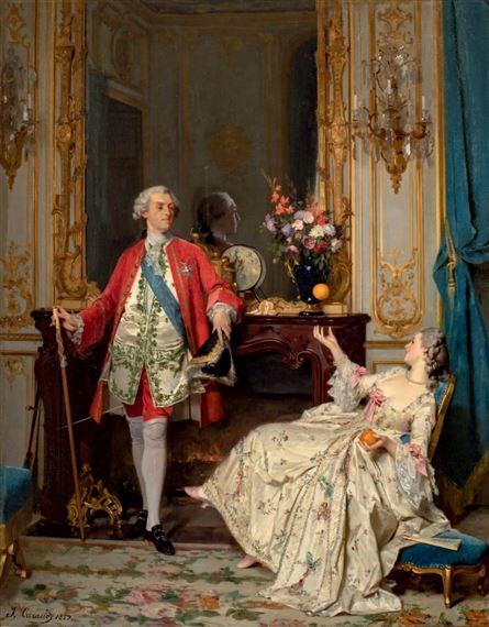 Caraud Joseph   Louis XV et Madame du Barry (1859)   MutualArt