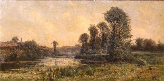 a02938a7d0 Artwork by Charles-François Daubigny, Untitled (River Landscape), Made of  oil
