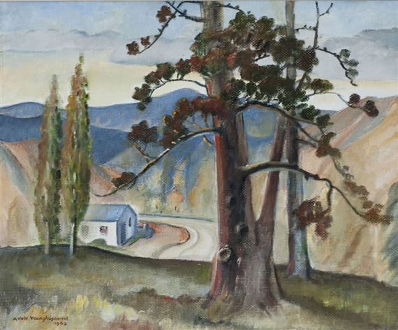 Younghusband Adele Pines On A Hilltop 1962 Mutualart