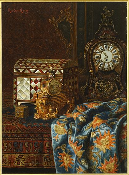 Max Schodl Still life with antiques Canvas Print