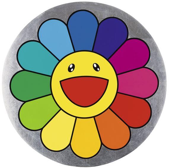 Artwork by Takashi Murakami, Rainbow Flower - 7 O'Clock, Made of acrylic