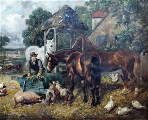 """Résultat de recherche d'images pour """"Pigs chickens and ducks in  farmyard"""""""