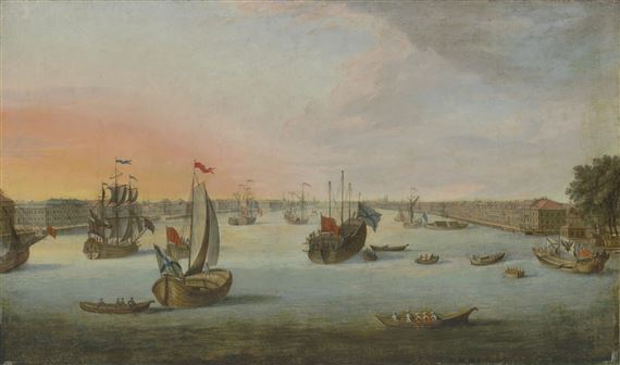 Russian School, 18thCentury | A view of Saint Petersburg from the