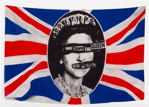 Reid Jamie | God Save the Queen banner for the Sex Pistols