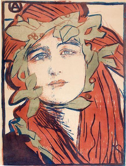 Axentowicz Theodor Plakat Ii Wystawy Towarzystwa Artystów