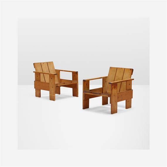 Strange Rietveld Gerrit Crate Chairs Pair Mutualart Download Free Architecture Designs Scobabritishbridgeorg