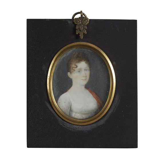 Marras John | Pair of portrait miniatures: Eliza Bussey