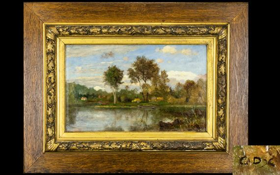 f7285b5ad8 Artwork by Charles-François Daubigny, Untitled River Scene, Made of Oil On  Board