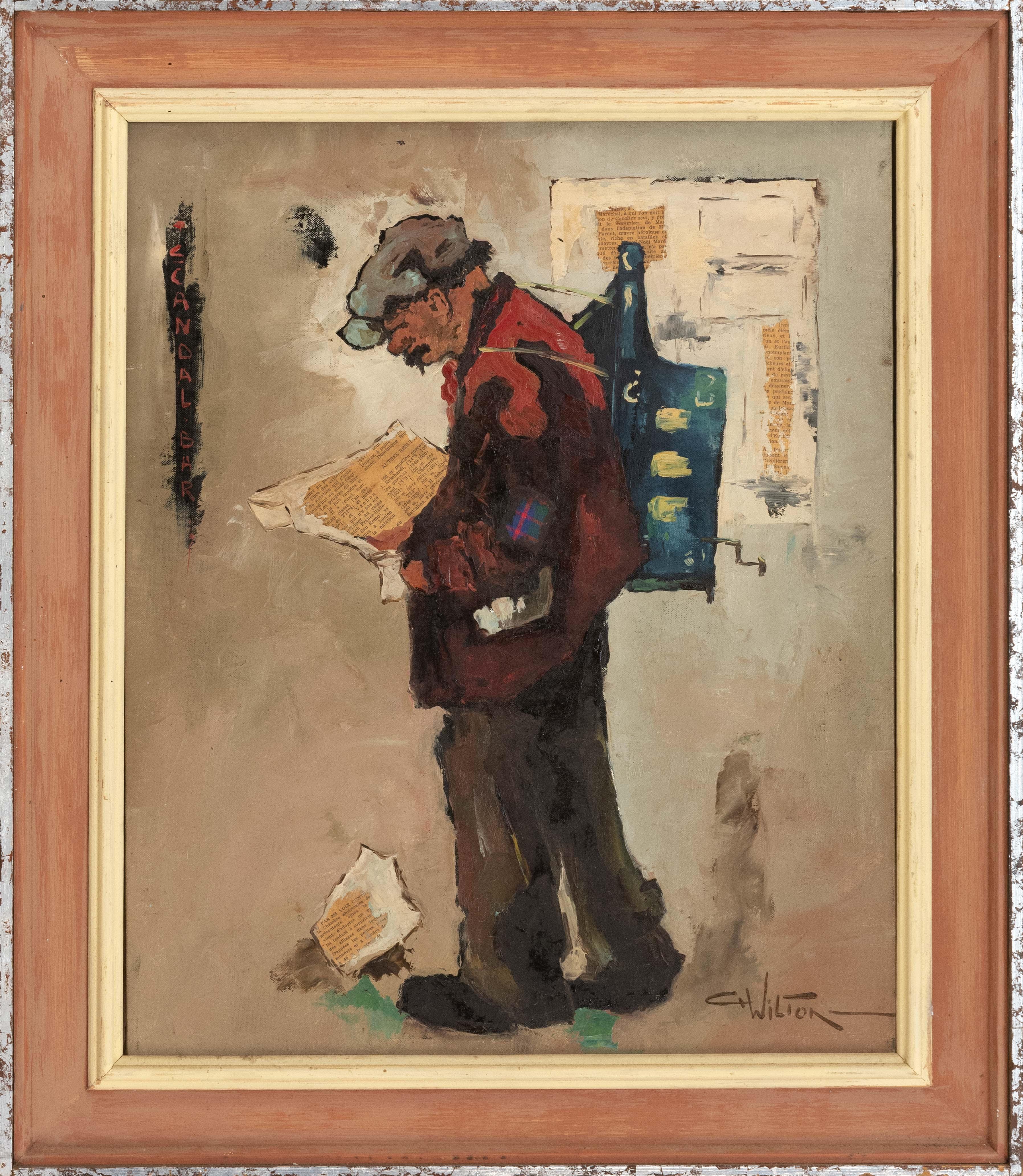Wilton C H Man Reading A French Newspaper Mutualart