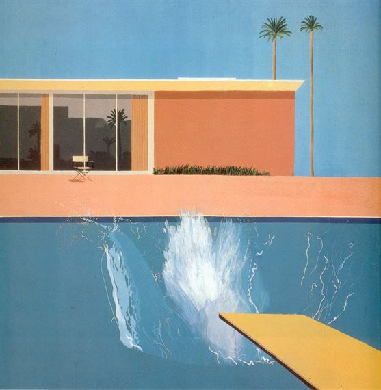Why was david hockney so obsessed with swimming pools - David hockney swimming pool paintings ...