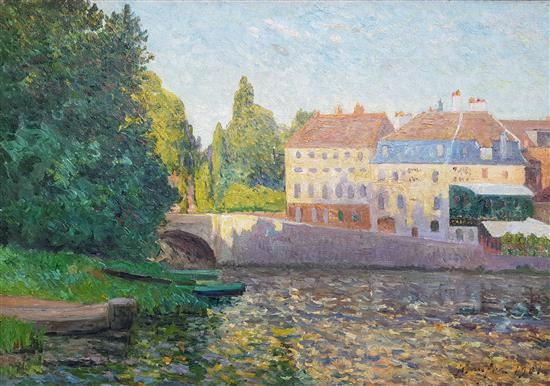 Artwork by Maxime Maufra, Le coin du pont, l'Isle Adam, Made of oil on canvas