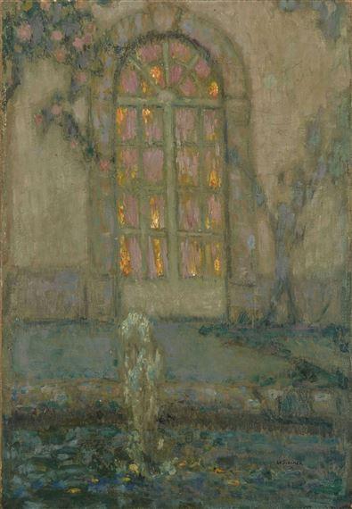 Henri Eugène Augustin le Sidaner | Porte vitrée sur le ...