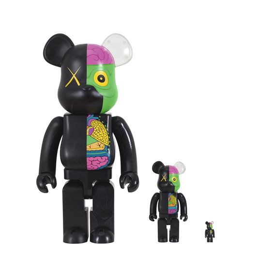 7d4055bf I. 1000% BE@RBRICK DISSECTED COMPANION/ II. 400% BE@RBRICK DISSECTED  COMPANION/ III. 100% BE@RBRICK DISSECTED COMPANION (BLACK) (THREE WORKS),  2010